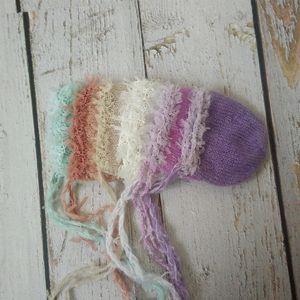 Новорожденная шляпа Фотография Реквизит, Baby Boy девушки шляпу Handmade мохера младенца кружево SGSS #