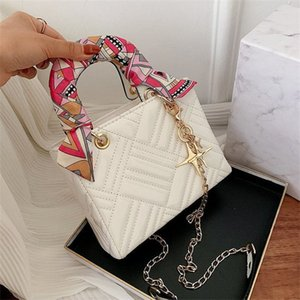 Moda çantalar Kadınlar çanta pu desen kilitli torba moda rozeti zinciri tek omuz diyagonal çanta doku