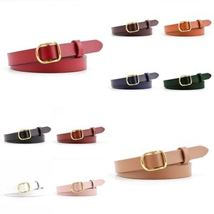 Candy Color Metal Buckle Thin Casual Belt For Women Leather Belt Female Straps Waistband For Apparel Accessories