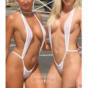 Extreme See Though Micro Monokini Bikini Set Slingshot Beach Sunbath Swim Lingerie Custome Swimwear Female Women G-String Thong mwxk#