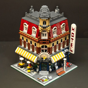 في المخزون 15002 2133 قطع سيتي شارع عرض سلسلة جعل مقهى الزاوية نموذج اللبنات الطوب الأطفال اللعب هدية عيد 10182