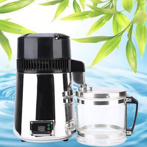 Filtro em 2020,1L 750W Household Água Pura Distiller elétrica Stainless Steel Purificador de Água Destilada Container de vidro máquina de água