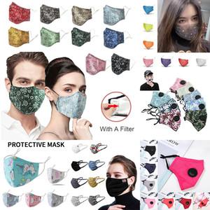 Maschere viso Designer polvere mascherina mascherine anti influenza particolato respiratore di protezione di sicurezza Maschera PM2.5 antipolvere maschera di moda