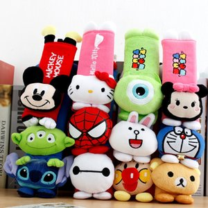 utomobiles & Motorcycles A Pair cute Cartoon Car Sefety Seat Belt cover Child isofix Seat belt Shoulder Pads Protection Plush Padding Aut...