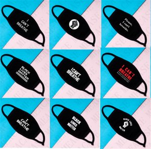 I can't breathe cotton mask unisex mouth-muffle Black lives matter print dustproof 2 layers Luxury face mask washable reusable Cover D7703
