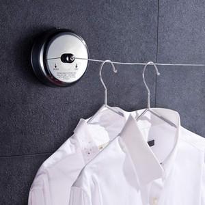 Ligne à linge rétractable en acier inoxydable en acier inoxydable salle de bain toilette rétractable invisible chaîne à linge artefact