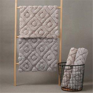 LCTMMYGS espesado estera del piso del algodón dormitorio en la puerta de la no estera del resbalón de baño toalla Tierra puerta de salida Cojines Patio Cojín reemplazo 9oQC #
