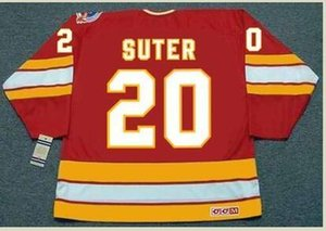 Custom Men Youth women Vintage #20 GARY SUTER Calgary Flames 1989 CCM Hockey Jersey Size S-5XL or custom any name or number