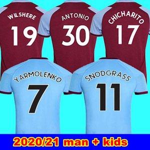2020 2021 WEST futbol formaları HAM 20 21 Birleşik Noble formaları ANDERSON PİRİNÇ SOYLU futbol üst gömlek erkek çocuklar 125 Yıldönümü 125 yıl kiti