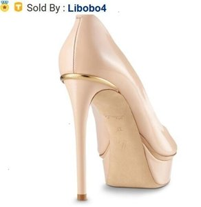 libobo4 2019 462513 EYELINE OPEN TOE PUMP Patent leather Fish mouth BEIGE 11.5cm High heels Women High heels Lolita PUMPS SHOES SNEAKERS