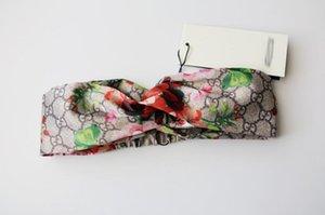 Nouvelle soie très doux Bandeaux dames femmes Styliste Marque Bloom Fleur Oiseau élastique Hairband dames fille headwraps 01
