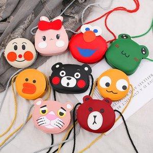 Fashion Kids Cartoon Animals Bag Girls Lovely Purse One Shoulder Handbag Animal Pattern Wallet PU Leather Newest Trendy Mini Bag 11*11*4 Top