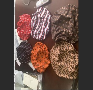 Designer Schlaf Bonnet Cap Durag Muslim 80-Frauen-Stretch Schlaf Turban Mütze Silky Bonnet Chemo Beanies Caps Krebs Kopfbedeckung-Kopf-Verpackung