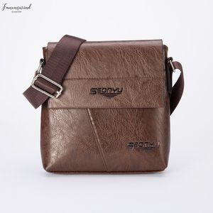 Maioumy New Fashion Mens Messenger Bag High Quality Fashion Puleather Solid Male Shoulder Bag Brand Designer Business Shoulder Bags Man