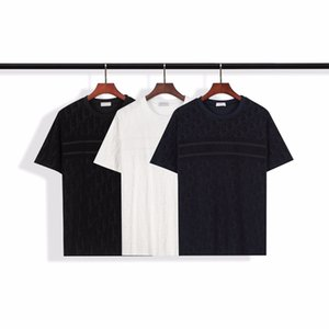 The new summer 2020 men's wear, fashionable casual T-shirt, loose black and white T-shirt, men and women can wear #050