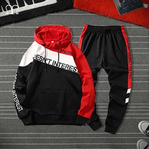 Tracksuit Men Two Pieces Set Fashion Mens Sportswear Hip Hop Hoodie Pants Male Sweatsuit Clothes Ropa Hombre 2020 Plus Size 4XL