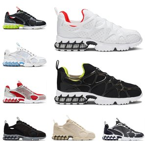 Stussy Nike Air Zoom Spiridon kukini Cage 2 Siyah Üçlü Beyaz Saf Platin Parça Kırmızı Üniversitesi Mavi erkek eğitmenler moda spor sneaker koşu ayakkabıları erkekler kadınlar
