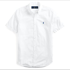 Ralph Lauren 2020 nouveaux hommes chemise à manches courtes T-shirts Polos marque Top qualité broderie Chemises blouse de couleur unie d'affaires POLO Casual
