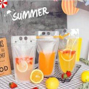 2016 Hot creatividad auto sellado de plástico de bebidas Bolsas fuentes de DIY partido Bebida recipiente para beber jugo de frutas bolsa de almacenamiento desechables YIcUp