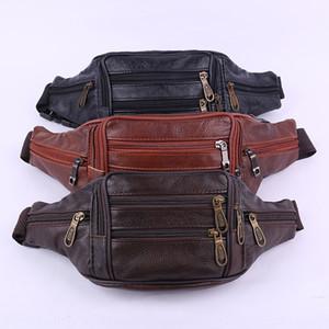 z0zZ5 Men's cashier business movement men's sports multi-function cash collection running bag top layer cowhide Business Bag running sports