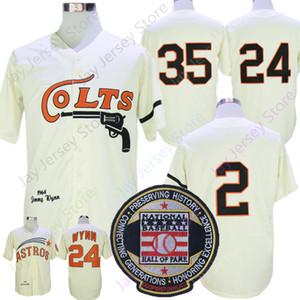 Vintage Baseball Jersey 1964 Nellie Fox 24 Jimmy Wynn 35 Joe Morgan Jerseys Creme Todos costurado Hall Of Fame
