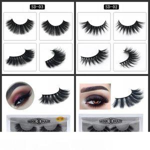 3D Hair Eyelash Imitation Water Mink Eye Lashes Extension Makeup Tools Natural Thick Fake Eyelashes Three Dimensional 3 75zy