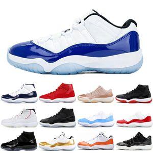 vendita calda Jumpman 11 11s bassa bianca allevati scarpe da basket LOW WMNS CONCORD Win Come Navy uomini di sconto Gum donne formatori scarpe da ginnastica
