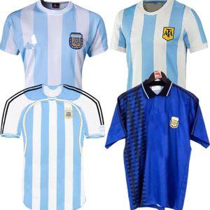 1978 Argentina Retro Soccer Jersey Maradona 1994 Vintage Classic 1986 1998 1978 Retro Argentina Maradona Shirts Maillot Camisetas de Futbol
