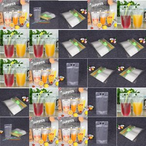 Hot Item Clear Juice Disposable Beverage Bags Foldable Drinking Plastic Water Pouch Clear Juice Disposable Beverage Bags Foldable lyhpshop U