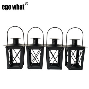 Métal bougeoir petite lanterne de fer Smart Design décor café-bar Couleur Noir Lanterne métal Livraison gratuite