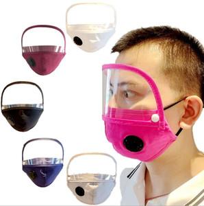Máscaras Máscara Facial Adulto com protetor removível lavável reutilizável clara Máscara PM2.5 Dustproof pano de rosto Boca Máscara Auto-compra Filtro LSK473