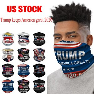 US Stock Ship From American President Election 2020 Trump Sports Magic Turban Scarf 3D Print Dust Face Cycling Masks Skullcap FY9156