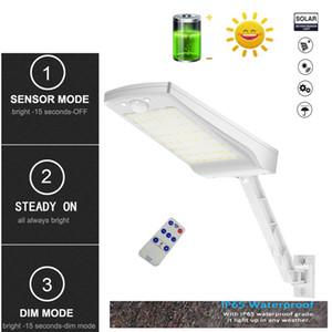 solar led lights outdoor Remote Control lamp Street Wall Light PIR Motion Sensor 3 Mode Lamp