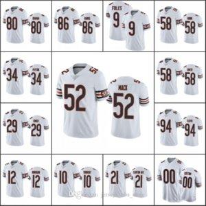 ChicagoBearsMen #9 Nick Foles 52 Khalil Mack 10 Mitchell Trubisky 80 Graham Women YouthNFL Custom White Vapor Limited Jersey