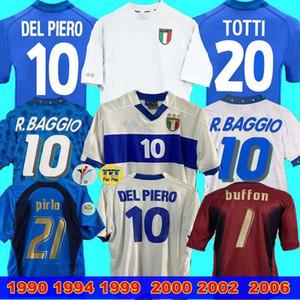Italia Jersey retro 2000 2002 2006 1999 Portero Mundial cup1990 ITALIA hogar retro 1994 del JERSEY de FÚTBOL Maldini Baggio Donadoni Totti Del Piero