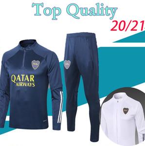 20 21 boca juniors chándal de fútbol 2020 2021 DE ROSSI boca chaqueta de traje de entrenamiento de fútbol juvenil trotar survetement chandal