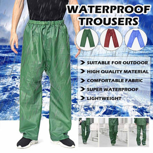 Folding Rainproof Pants Over Trousers Women Men's Waterproof Windproof Elastic-Waist Rain Pants For Cycling Camping Hiking