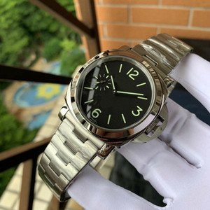 45mm PAM Leather Watches 316L Stainless Steel for Man Automatic PAM Wristwatches 2020 new 12