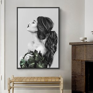 Nordic Style Home Decoration Modern Beauty Figure Oil Painting Wall Art Canvas Portrait Posters & Prints Wall Pictures for Living Room