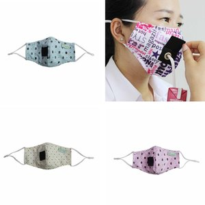 in stock Children masks designer face masks can drink water printed cotton mask printed flower washed outdoor facial mouth cover masks