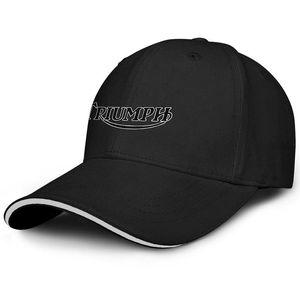 Unisex Triumph Motorcycles Logo Sandwich béisbol de la manera del sombrero del conductor de camión Cap Fit Mejor Triumph-logotipo de la motocicleta triunfo