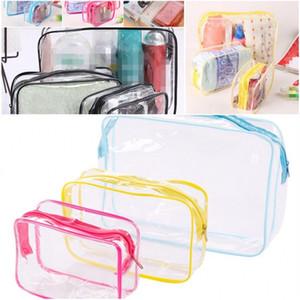 A prueba de agua bolsa de almacenamiento Maquillaje Organizador fácil de plegar Encuentra Lavado Bolsas exterior Outing El engrosamiento de PVC transparente resistente a las manchas 1 7yk D2