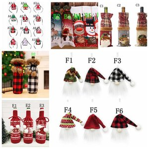 Garrafa Tampa Red Wine Bottle Natal Capa Wine Xmas Bag Garrafa Decor Tabela Detalhes no Jantar Xmas Party Sweater presentes Supplies LSK537
