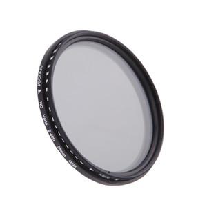 58mm ND 필터 중립 밀도는 캐논 니콘 DSLR 카메라에 대한 ND2 ND4 ND8 ND400 렌즈 가변 ND 페이더 필터