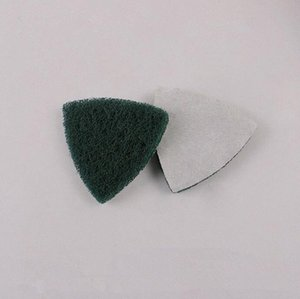 10Pcs oscillating multi saw Self-adhesive Triangle polishing Pad Flocking Scouring pad Green 80 mesh Grinding Tools qNgO#