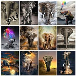Evershine 5D DIY diamante Elefante da pintura Praça cheia de diamantes bordados Animais Mosaic Rhinestone Pictures Home Decor Art