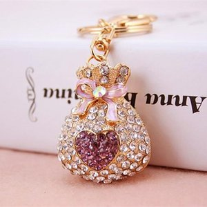 High Quanlity New Fashion Creative Rhinestone Purse Style Car Handbag Keychain Women Bag Charm Brand Key Chain Fashion Keyring