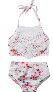 2Pcs Toddler Baby Girls Cute Printed Swimsuit Bathing Swimwear Bathing Suit Bikini Outfits Swimsuit Set Beachwear 2020