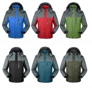 2020 Nova camisola Hoodie Men Moda Mulheres Jacket espessamento Outono Inverno Brasão Plus Size Sports Outdoor Windrunner Zipper Windcheater Red