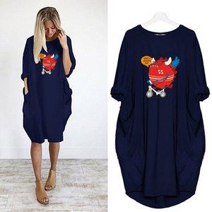 Tasarımcı Kadın DIY Elbiseler Yaz Sonbahar Moda Baskılı Günlük Elbise Kadın Şık tişört Kadın Kısa Etek Asyalı Boyut S-5XL A017
